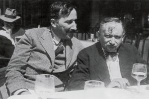 Stephan Zweig e Joseph Roth nel 1936 a Ostenda