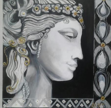 """""""La danzatrice"""" di Aliss - 50X50"""