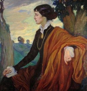 Portrait of Anna Achmatova by Olga Della-Vos-Kardovskaya, 1914