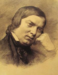 """Ritratto di Robert Schumann durante il suo periodo a Düsseldorf - Credit """"Heinrich-Heine-Institut, Düsseldorf"""""""