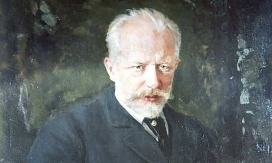 A detail from a reproduction of Tchaikovsky's Portrait 1893 by Kuznetsov from the collection of the Tretyakov State Gallery in Moscow. Photograph: RIA Novosti/Alamy