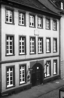 """Casa di Schumann in Bilker Straße 15. Foto di Walter Klein.Credit: """"Heinrich-Heine-Institut, Düsseldorf"""""""
