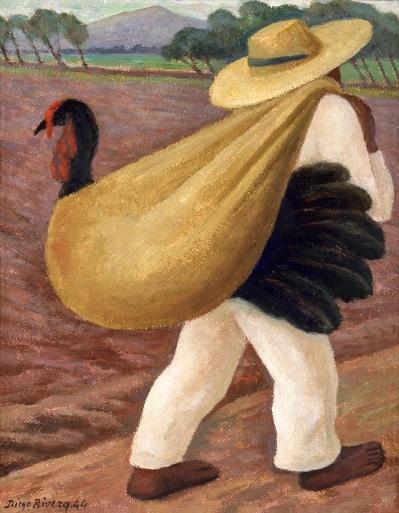 18.-Campesino-cargando-un-guajolote_DIEGO-RIVERA_GENUSBONONIAE_MOSTRASOSPESA