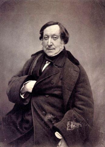 Gioachino Rossini nel 1856