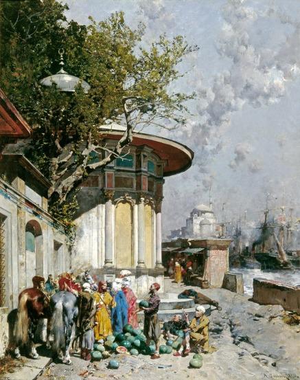 Alberto-Pasini-Fontana-turca-1873-olio-su-tela
