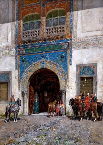 Alberto-Pasini-In-attesa-del-sultano-circa-1895-olio-su-tela